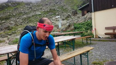 Kurze Pause bei der Tübinger Hütte