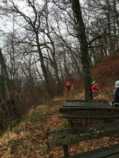 kurze Pause, nach den ersten Downhillmetern
