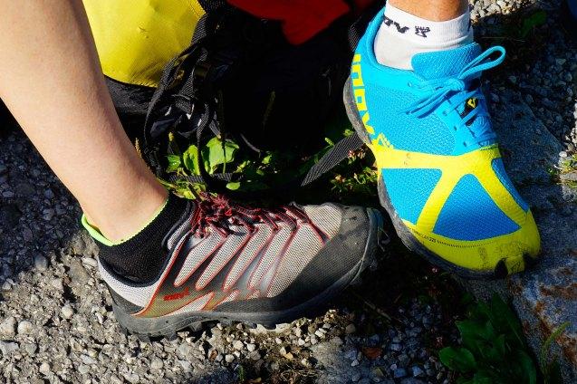 Schuhvergleich die linken INOV-8 sind mindestens 10 Jahre alt :-)